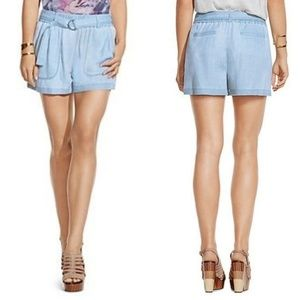 NEW Two by Vince Camuto Belted Chambray Shorts XL